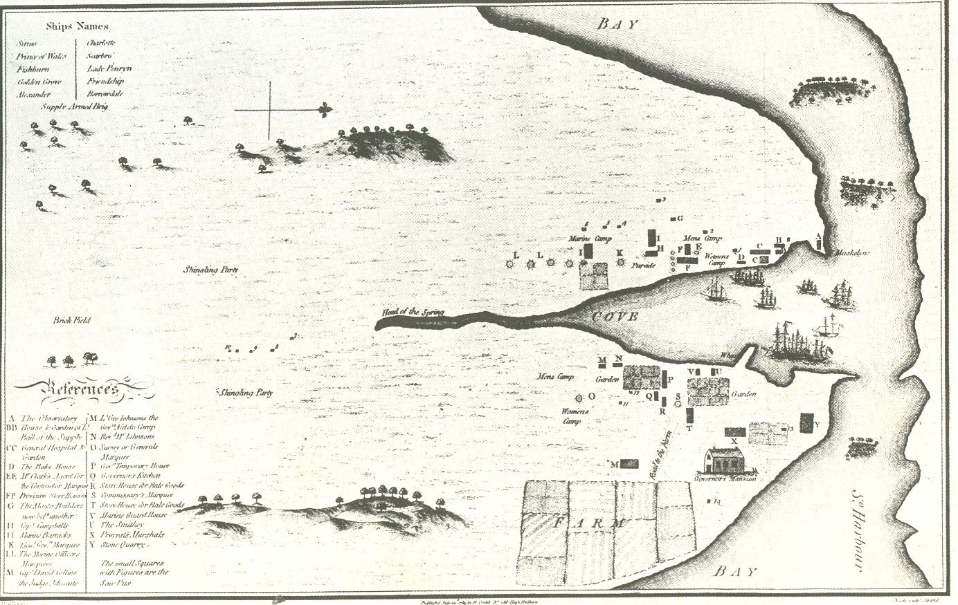Very Early Map of Sydney From 1789