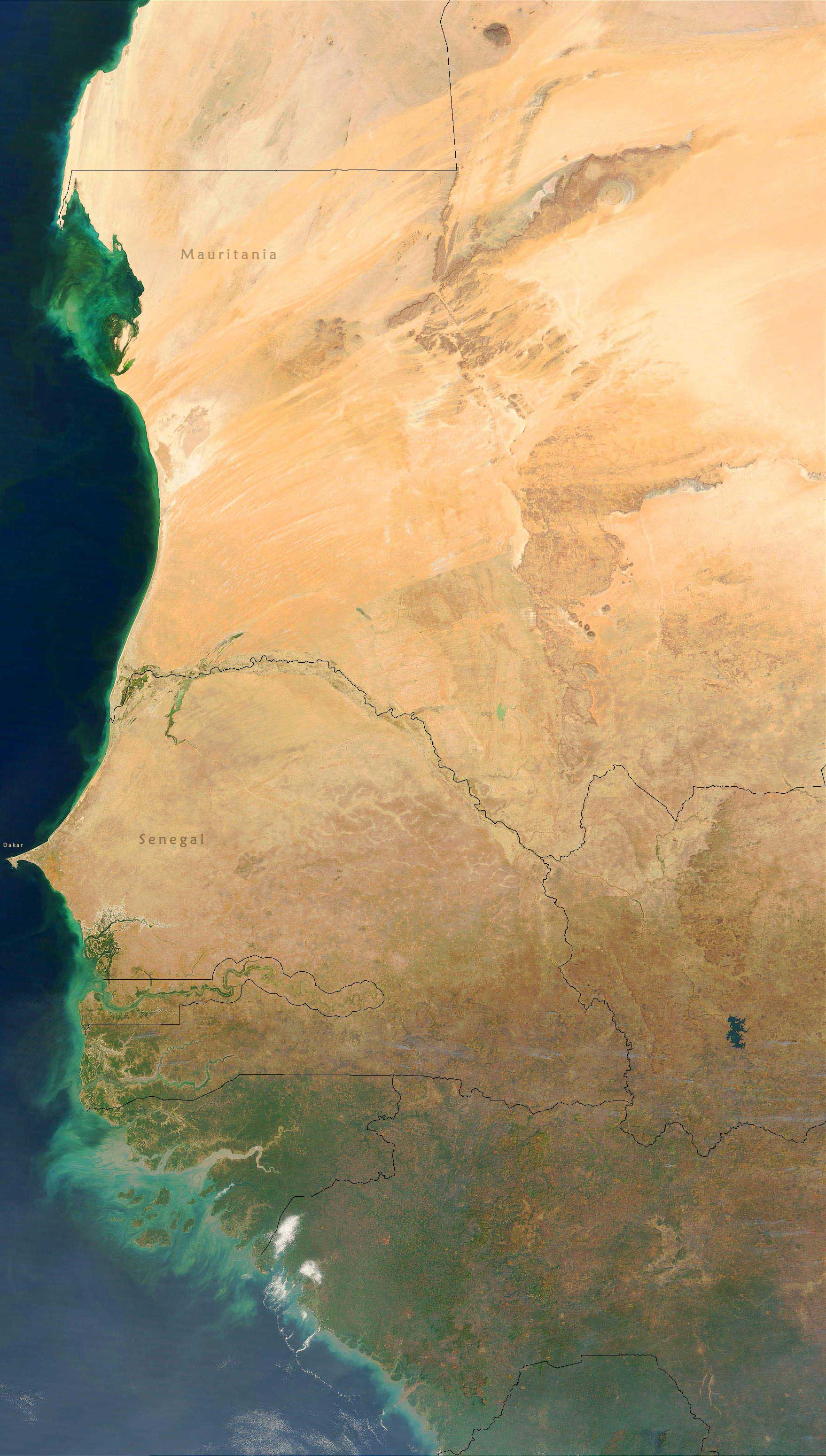 West Africa Satellite Image