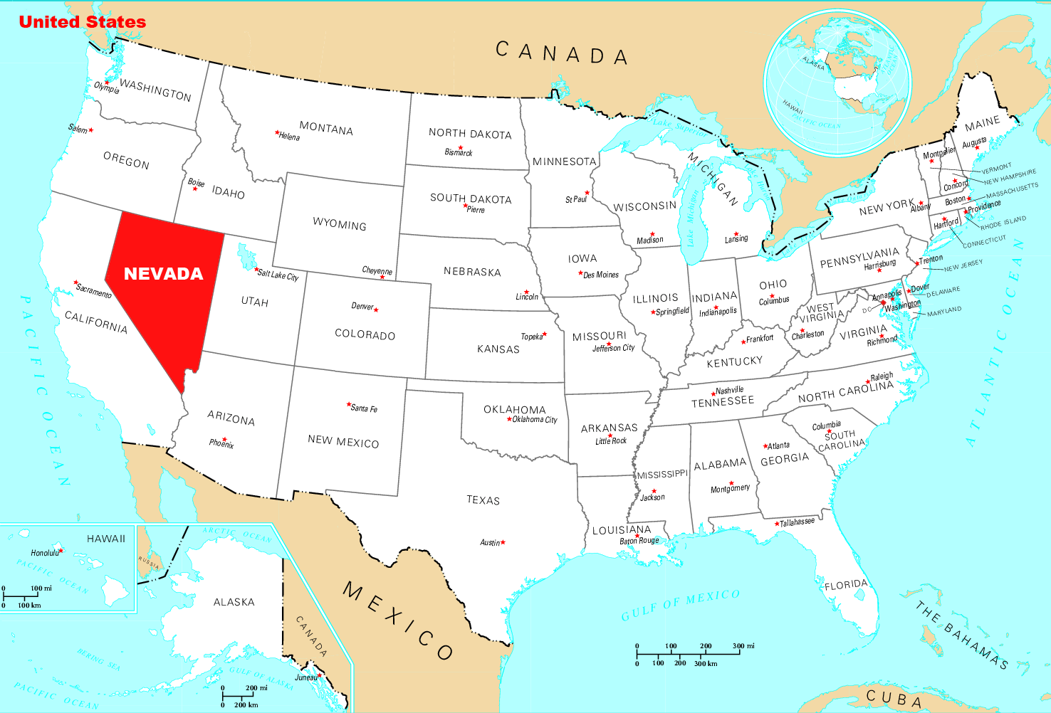 Where Is Nevada Located