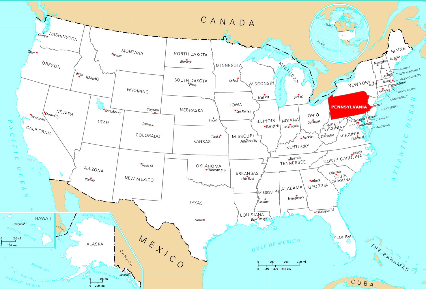 Where Is Pennsylvania Located
