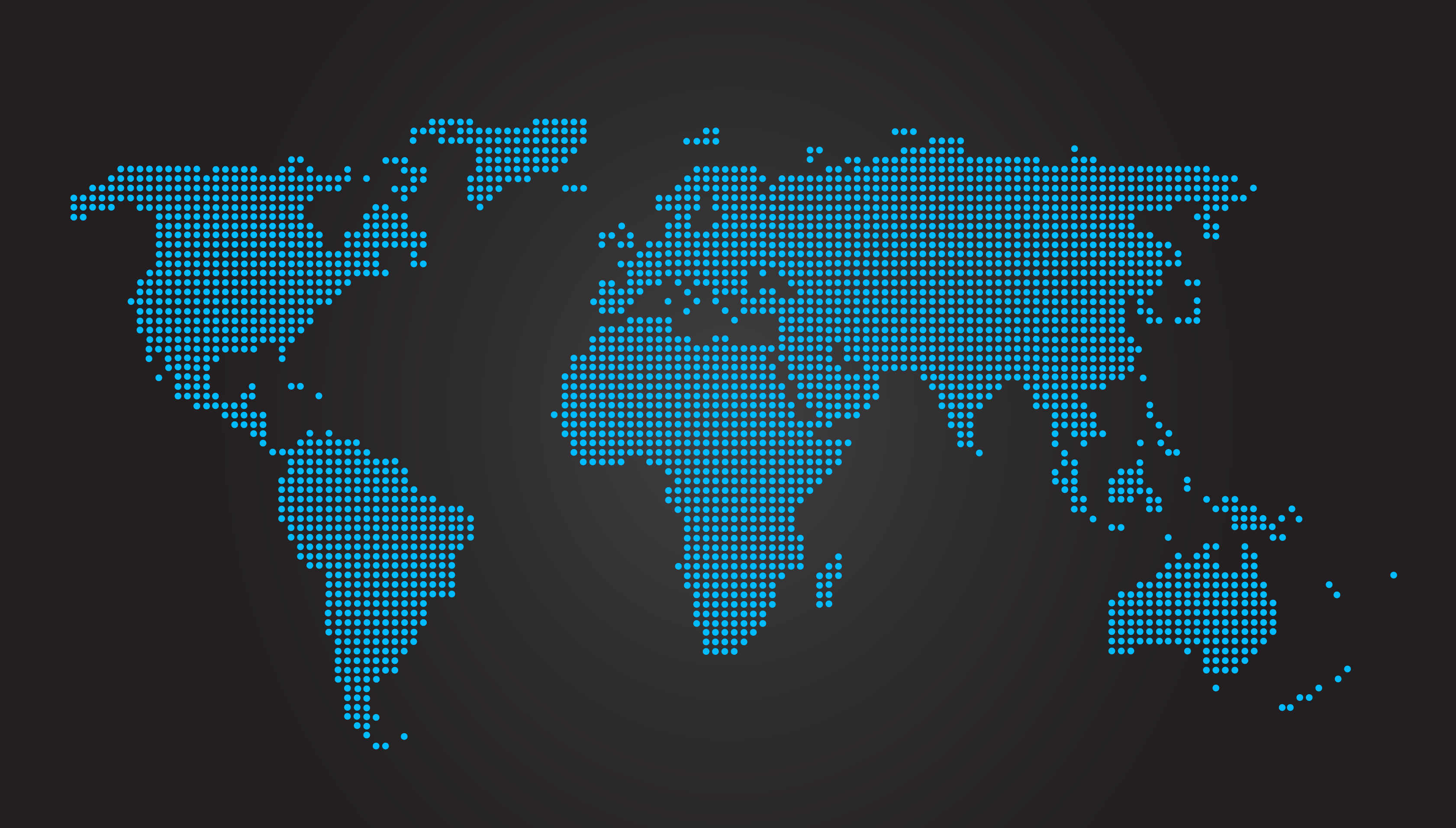World Map Dotted Black