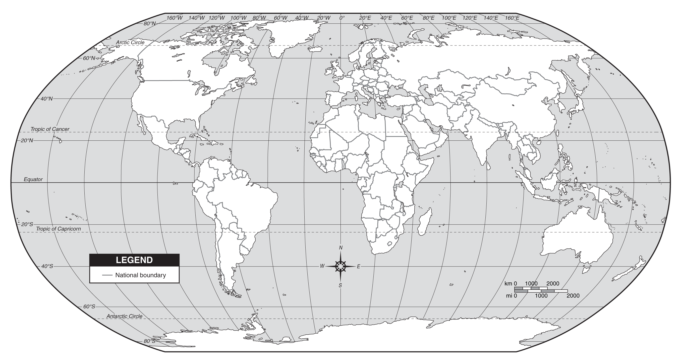 World Country Borders Map
