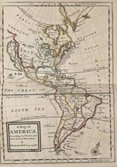 America Continent Historical Map (political)