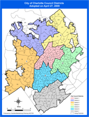 Charlotte Districts Map
