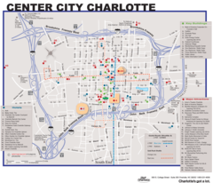 Charlotte Downtown Map (city Center)