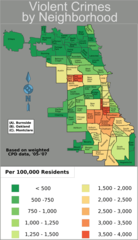 Chicago Weighted Crime Map 05 07