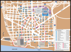 Detroit Metro System Map (people Mover)