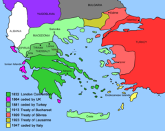 Expansion of Modern Greece