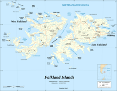 Falkland Islands Map Shaded Relief