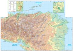 Honduras Physical And Topographic Map