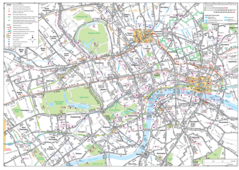 London Detailed Road Map