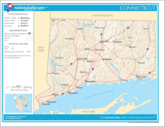 Map of Connecticut Na