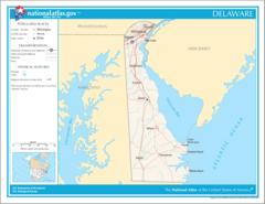 Map of Delaware Na