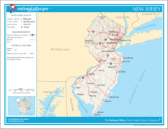 Map of New Jersey Na 1