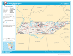 Map of Tennessee Na 1
