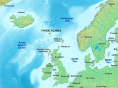 Map of Faroe Islands In Europe