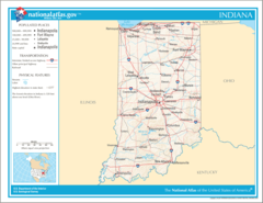 Map of Indiana Na