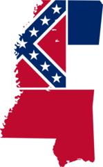 Mississippi Flag Map
