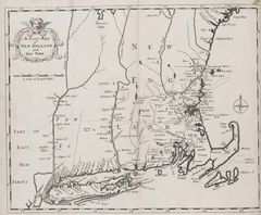 New England And New York Historical Map