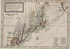 New England Historical Map