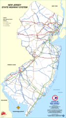 New Jersey Highway Map