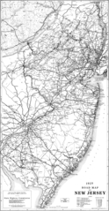 New Jersey Transport Old Map (1925)