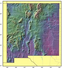 New Mexico Relief Map