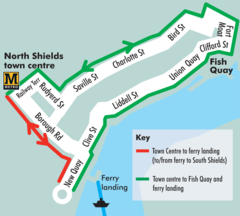 Newcastle Ferry Link Map