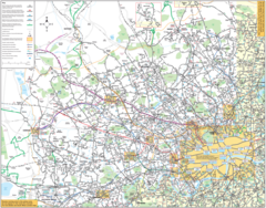 North West London Bus Map