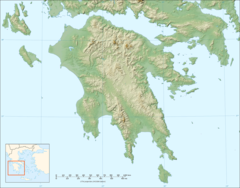Peloponnese Relief Map Blank