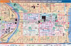 Philadelphia Downtown Transport Map