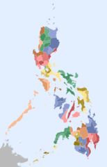 Philippines Administrative Map Blank