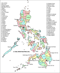 Philippines Districts Map