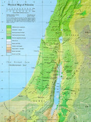 Physical Map of Palestine