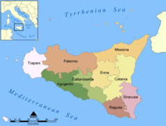 Provinces Map of Sicily