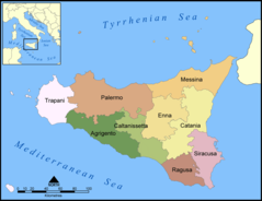 Provinces of Sicily Map