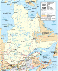Quebec Province Transportation And Cities Map Fr