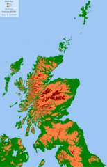 Scotland Land Use By Height 1