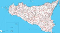 Sicily Map Detailed