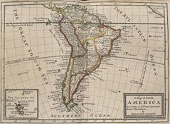 South America Historical Map (political)