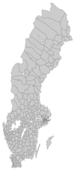 Sweden Blank Map With Municipal Borders