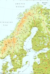 Sweden Physical Map 1