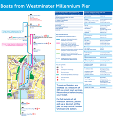 Westminster Pier Route Map