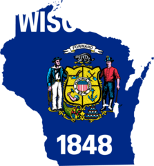 Wisconsin Flag Map