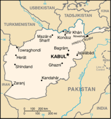 Afghanistan Map No