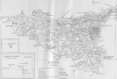 Ancient Map of Sicily