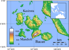 Bacan Topography