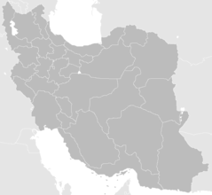 Blank Map Iran With Water Bodies
