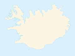 Blank Map of Iceland