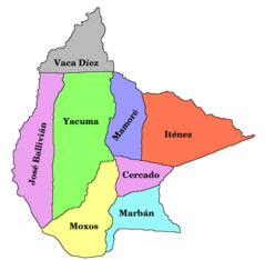 Bolivia Department of Beni